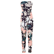 Buy Miss Selfridge Tropical Print Jumpsuit, Black/Multi Online at johnlewis.com