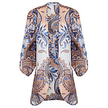 Buy Miss Selfridge Short Paisley Kimono, Multi Online at johnlewis.com