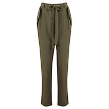 Buy Miss Selfridge Utility Trousers, Khaki Online at johnlewis.com