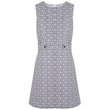 Buy Miss Selfridge Daisy Print Chambray Dress, White Online at johnlewis.com