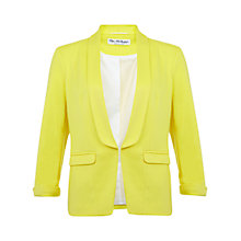 Buy Miss Selfridge Ponte Jacket, Daffodil Online at johnlewis.com