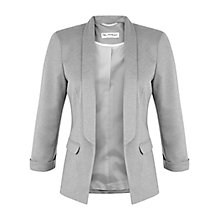 Buy Miss Selfridge Ponte Jacket, Grey Online at johnlewis.com