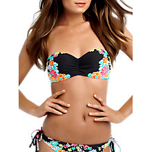 Buy Seafolly Kimono Rose Bandeau Bikini Top, Black / Multi Online at johnlewis.com