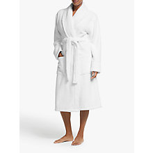 Buy John Lewis Luxury Towelling Robe, White Online at johnlewis.com