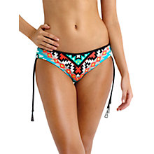 Buy Seafolly Kasbah Tie Side Bikini Briefs, Nectarine Online at johnlewis.com