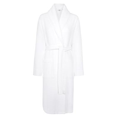 John Lewis Spa Waffle Robe, White