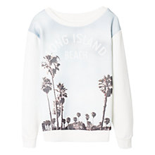 Buy Mango Kids Boys' Long Island Sweatshirt, White Multi Online at johnlewis.com