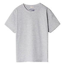 Buy Mango Kids Essential SS Soft T-Shirt, Pastel Grey Online at johnlewis.com