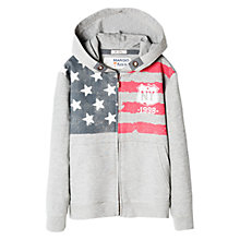 Buy Mango Kids Boys' Flag Print Hoodie, Medium Grey Online at johnlewis.com