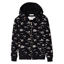 Buy Mango Kids Boys' Dinosaur Print Hoodie, Black Online at johnlewis.com
