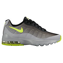 Buy Nike Children's Air Max Invigor Sports Shoes, Grey/Black Online at johnlewis.com