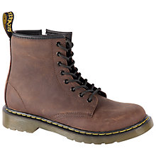 Buy Dr Martens Delaney Lace-Up Boots, Brown Online at johnlewis.com