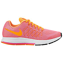 Buy Nike Children's Zoom Pegasus 32 Sports Shoes, Pink/Orange Online at johnlewis.com