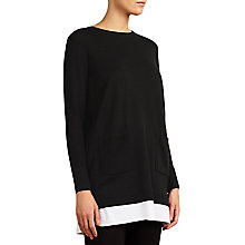 Buy Somerset by Alice Temperley Two In One Knit Jumper, Black/White Online at johnlewis.com