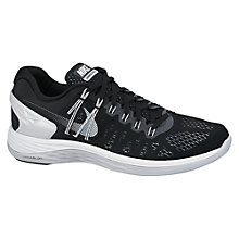 Buy Nike LunarEclipse 5 Men's Running Shoes, Black/White Online at johnlewis.com