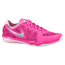 Buy Nike Dual Fusion TR 3 Print Women's Running Shoes, Pink/White Online at johnlewis.com
