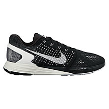 Buy Nike LunarGlide 7 Women's Running Shoes, Black/Anthracite Online at johnlewis.com