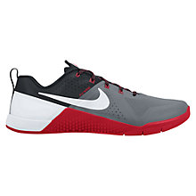 Buy Nike Metcon 1 Men's Cross Trainers, Grey/Red Online at johnlewis.com