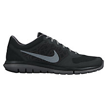 Buy Nike Flex Run 2015 Men's Running Shoes, Black/Grey Online at johnlewis.com