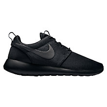 Buy Nike Roshe One Women's Trainers, Black/Anthracite Online at johnlewis.com