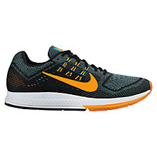 Buy Nike Air Zoom Structure 18 Men's Running Shoes, Blue/Orange Online at johnlewis.com