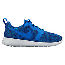 Buy Nike Roshe One Knit Jacquard Women's Trainers, Blue Online at johnlewis.com