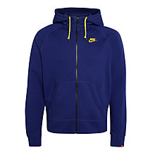 Buy Nike AW77 Full Zip Training Hoodie, Royal Blue Online at johnlewis.com