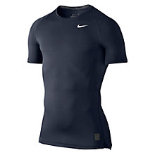 Buy Nike Pro Cool Compression Top, Charcoal/Black Online at johnlewis.com