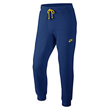 Buy Nike AW77 Cuffed Fleece Training Trousers, Dark Blue Online at johnlewis.com