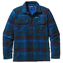 Buy Patagonia Insulated Fjord Flannel Men's Jacket, Blue Online at johnlewis.com