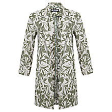 Buy Miss Selfridge Leaf Print Duster Coat, Khaki Online at johnlewis.com