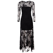 Buy True Decadence Sheer Lace Maxi Dress, Black Online at johnlewis.com