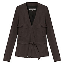 Buy Gerard Darel Alsace Safari Jacket, Charcoal Online at johnlewis.com
