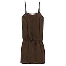 Buy Mango Embroidered Detail Dress, Khaki Online at johnlewis.com