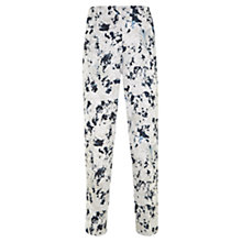 Buy Mint Velvet Teagan Print Cotton Capri Trousers, Multi Online at johnlewis.com