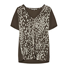 Buy Gerard Darel Avignon T-Shirt, Khaki Green Online at johnlewis.com