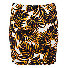 Buy Miss Selfridge Palm Print Mini Skirt, Multi Online at johnlewis.com