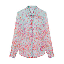 Buy Gerard Darel Silk Amelie Shirt, Aqua Online at johnlewis.com