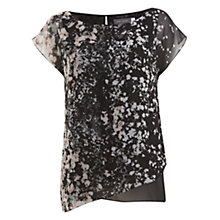 Buy Mint Velvet Willow Print Tabard Top, Black Online at johnlewis.com