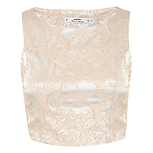 Buy Miss Selfridge Petite Jacquard Top, Blush Online at johnlewis.com