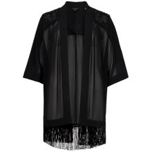Buy Ted Baker Omenie Embroidered Fringe Kimono, Black Online at johnlewis.com