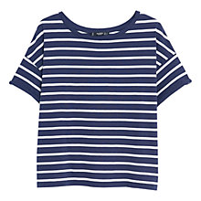Buy Mango Cotton Stripe T-Shirt, Dark Blue Online at johnlewis.com