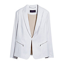 Buy Violeta by Mango Structured Linen-Blend Blazer, White Online at johnlewis.com