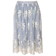 Buy True Decadence Midi Skirt, Light Blue Cream Online at johnlewis.com