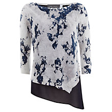 Buy Mint Velvet Teagan Print Linen Layered Knit Top,  Multi Online at johnlewis.com