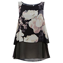 Buy Mint Velvet Jasmine Print Layered Top, Multi Online at johnlewis.com