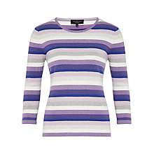 Buy Viyella Petite Stripe Jumper, Purple Online at johnlewis.com