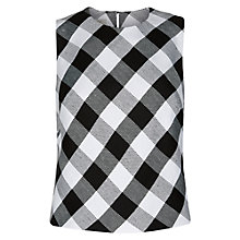 Buy Hobbs Mono Check Top, Black / White Online at johnlewis.com