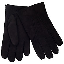 Buy John Lewis Sheepskin Cashmere Lined Gloves, Black Online at johnlewis.com