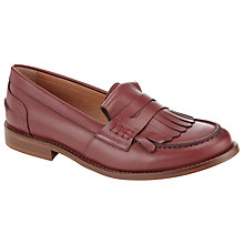 Buy Collection WEEKEND by John Lewis Gapree Fringe Leather Loafers, Red Online at johnlewis.com